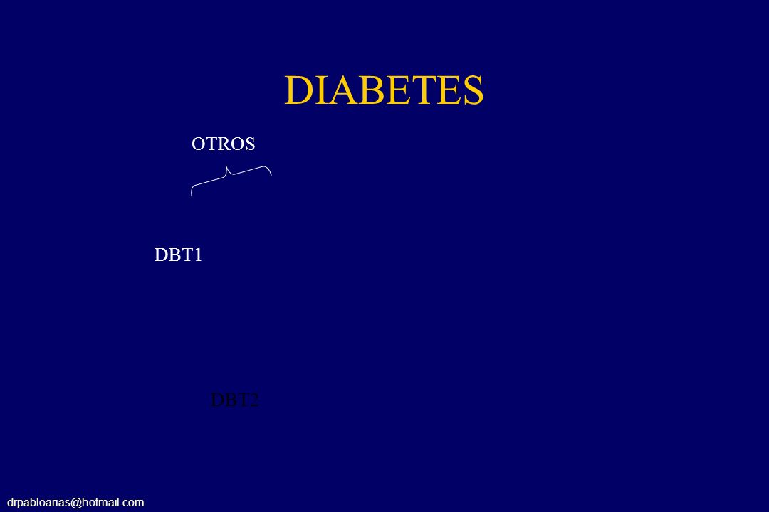 DIABETES OTROS DBT1 DBT2 drpabloarias@hotmail.com