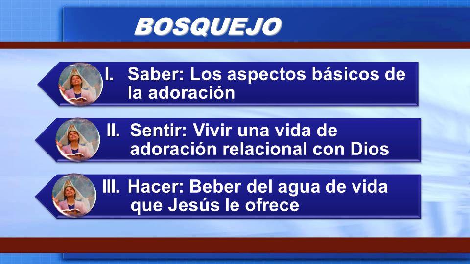 BOSQUEJO I. Saber: Los aspectos básicos de la adoración