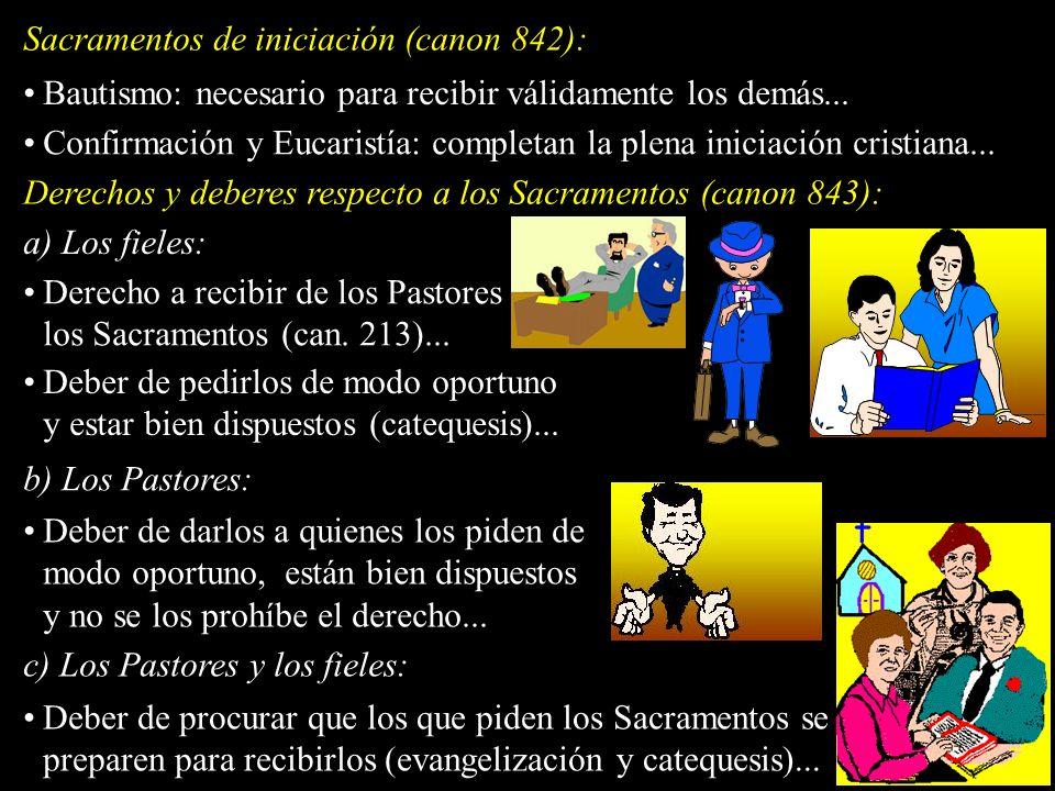 Sacramentos de iniciación (canon 842):