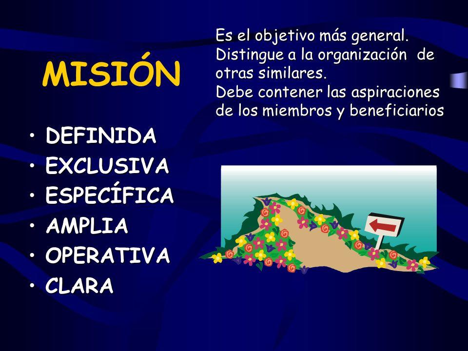 DEFINIDA EXCLUSIVA ESPECÍFICA AMPLIA OPERATIVA CLARA