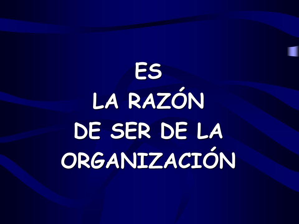 ES LA RAZÓN DE SER DE LA ORGANIZACIÓN