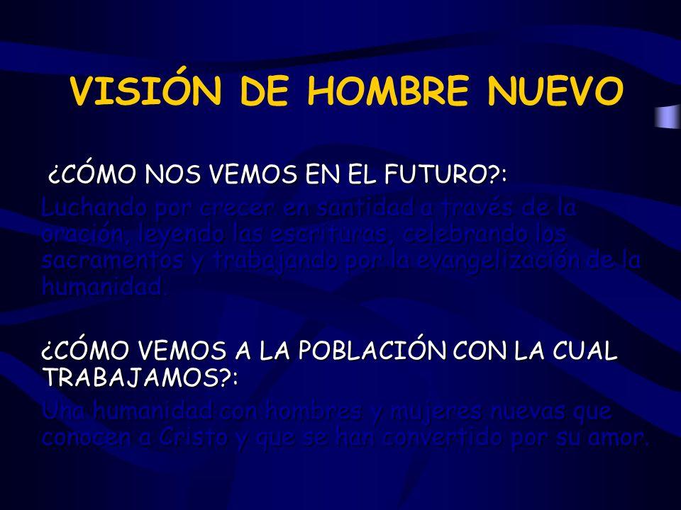 VISIÓN DE HOMBRE NUEVO ¿CÓMO NOS VEMOS EN EL FUTURO :