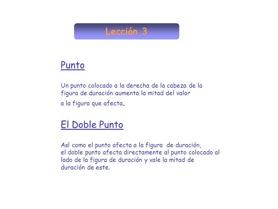 Lección 3 Punto El Doble Punto