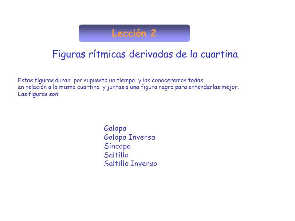 Figuras rítmicas derivadas de la cuartina