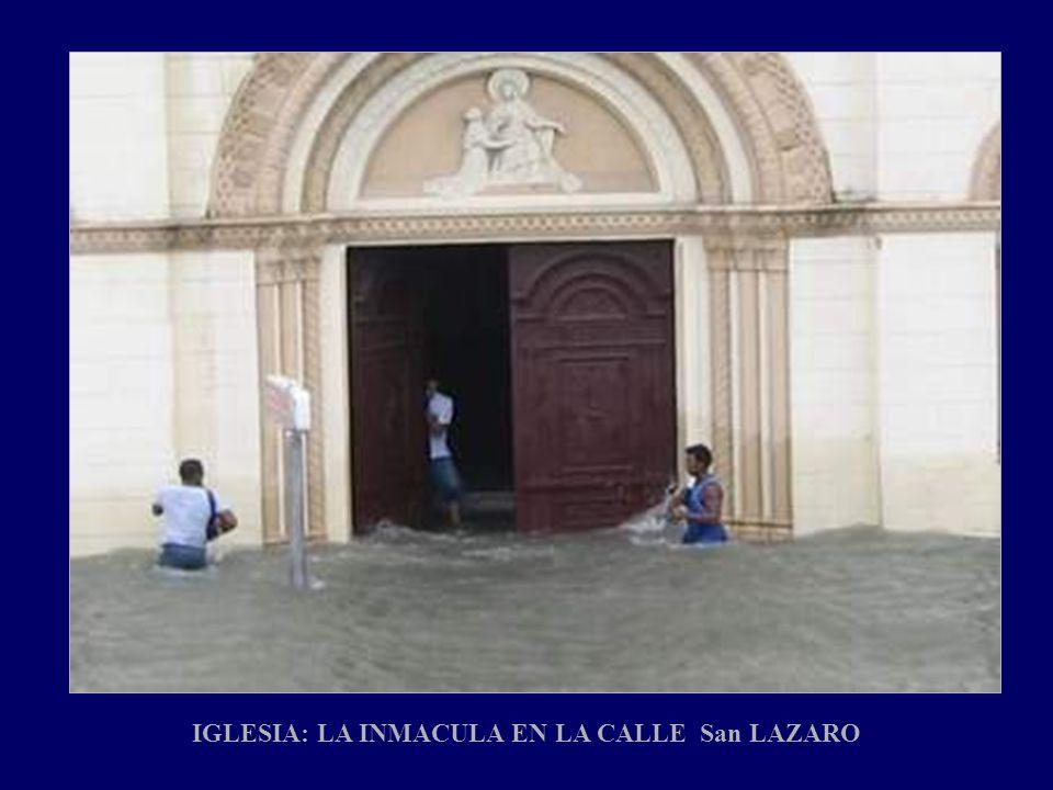 IGLESIA: LA INMACULA EN LA CALLE San LAZARO