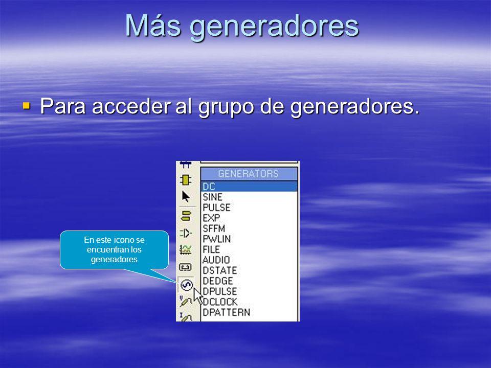 En este icono se encuentran los generadores