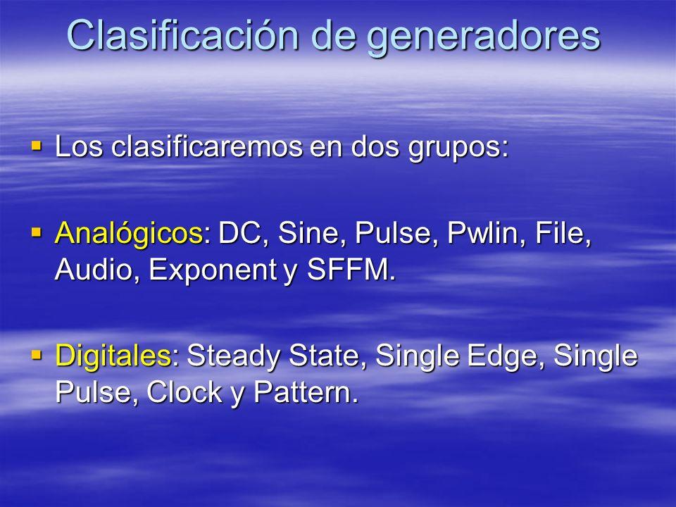 Clasificación de generadores