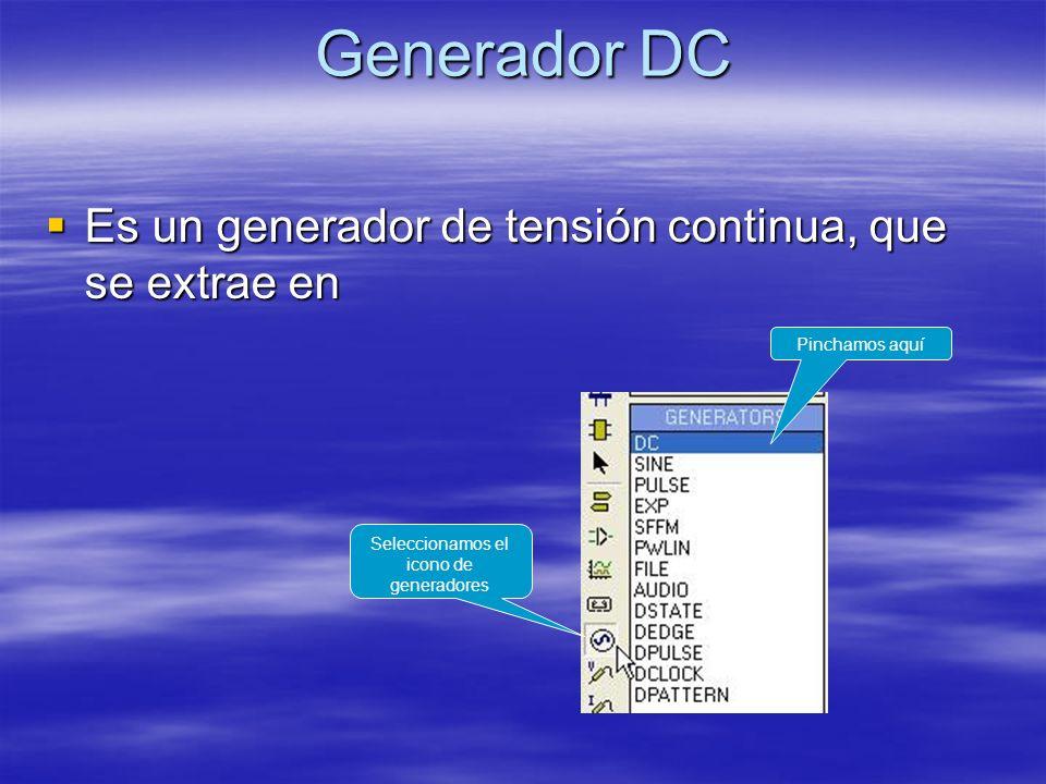 Seleccionamos el icono de generadores