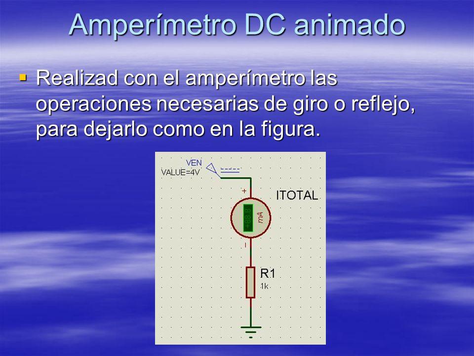 Amperímetro DC animado