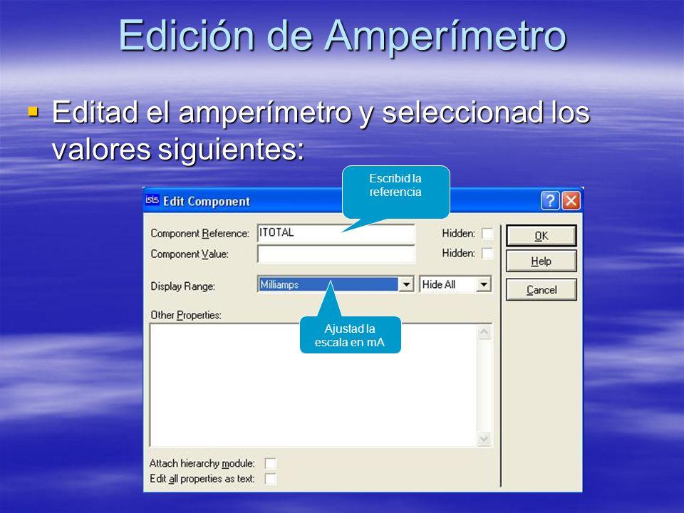 Edición de Amperímetro