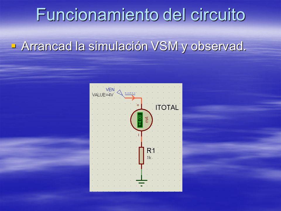 Funcionamiento del circuito