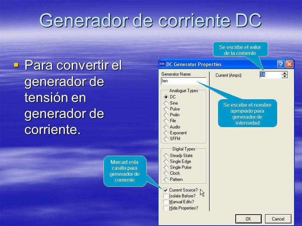 Generador de corriente DC