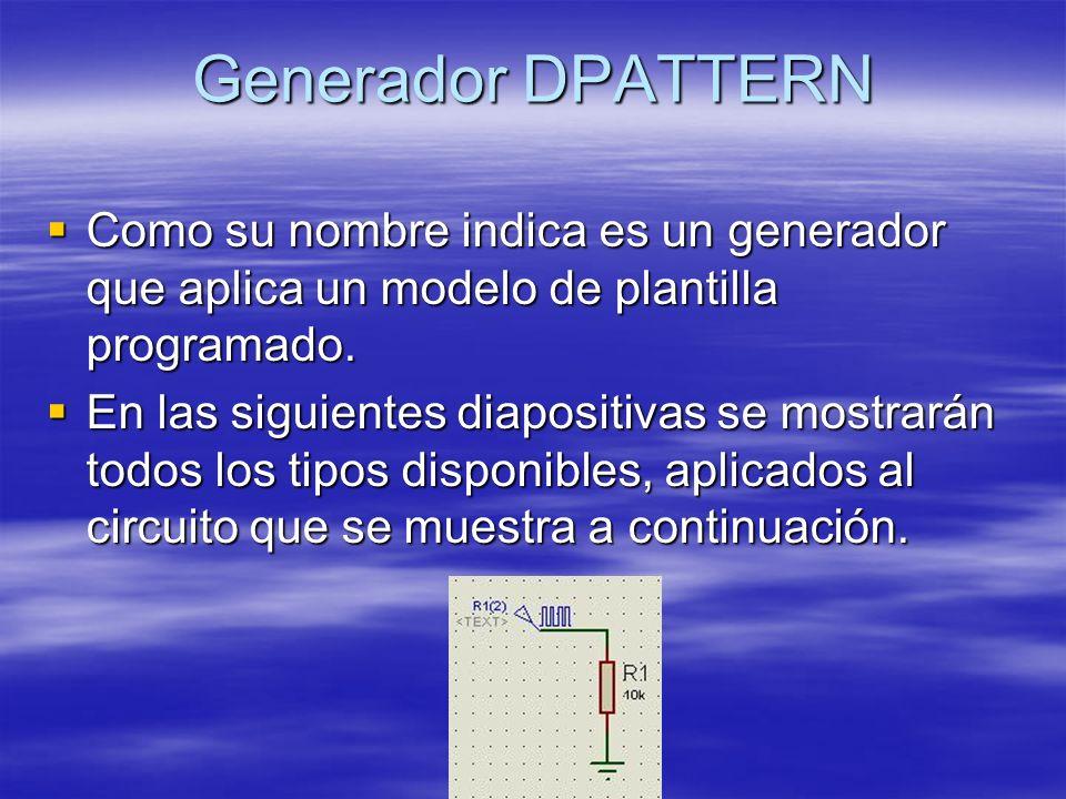 Generador DPATTERN Como su nombre indica es un generador que aplica un modelo de plantilla programado.
