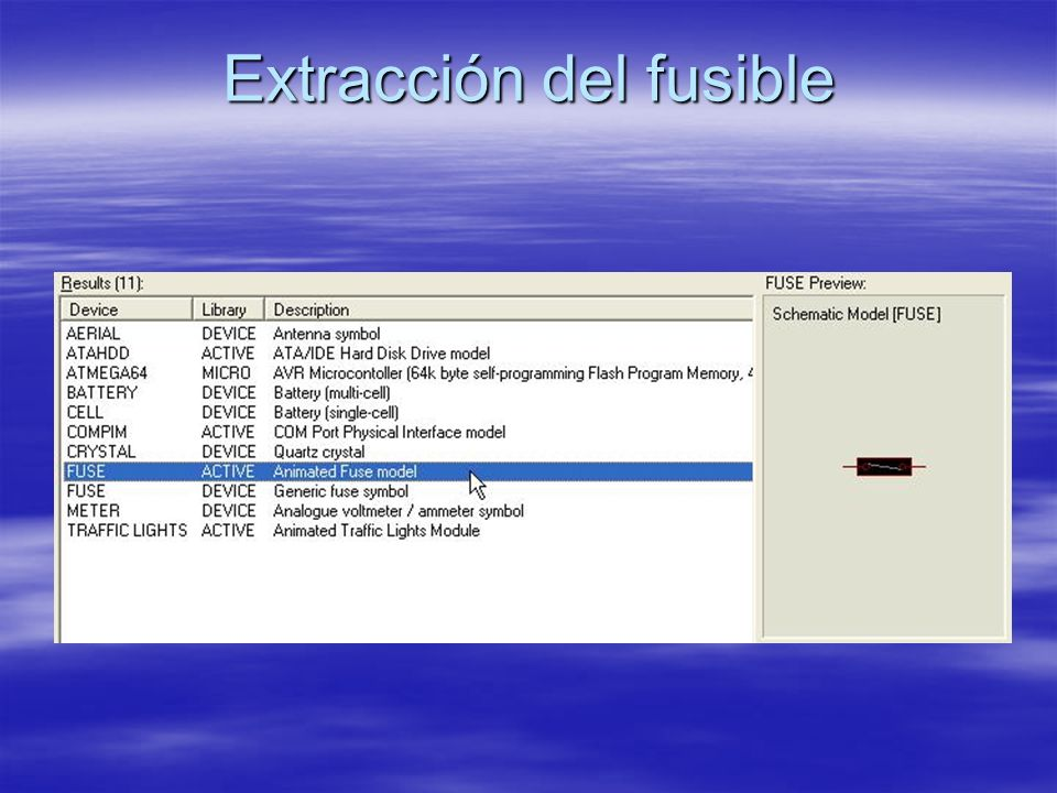 Extracción del fusible