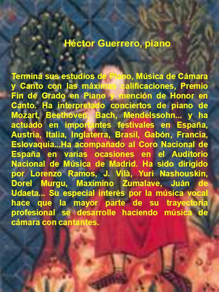 Héctor Guerrero, piano