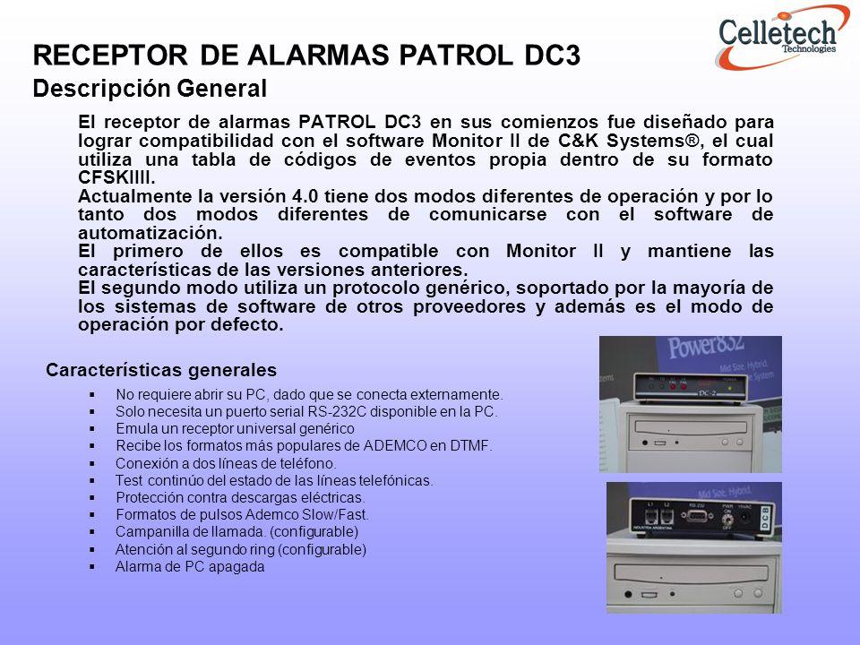 RECEPTOR DE ALARMAS PATROL DC3 Descripción General