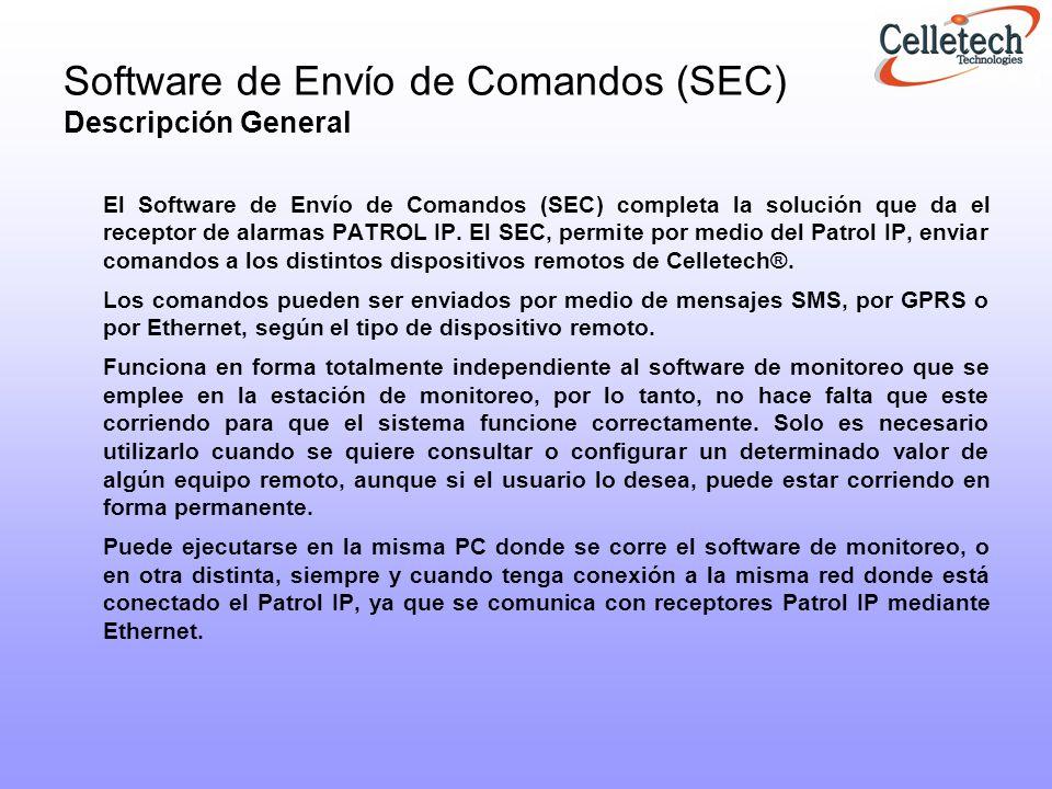 Software de Envío de Comandos (SEC) Descripción General