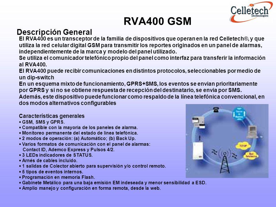 RVA400 GSM Descripción General