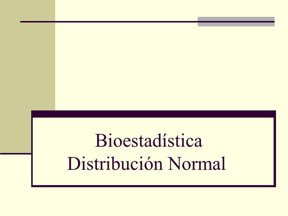 Bioestadística Distribución Normal