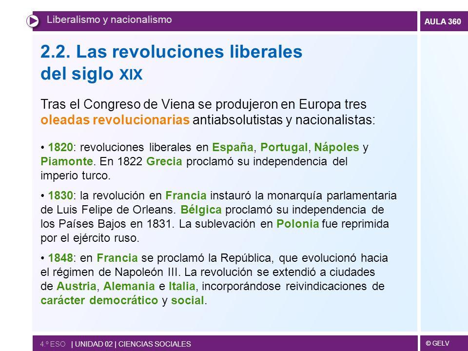 2.2. Las revoluciones liberales del siglo xix