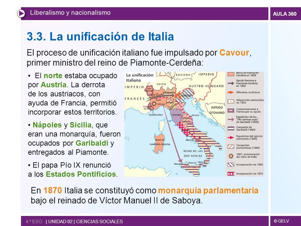 3.3. La unificación de Italia