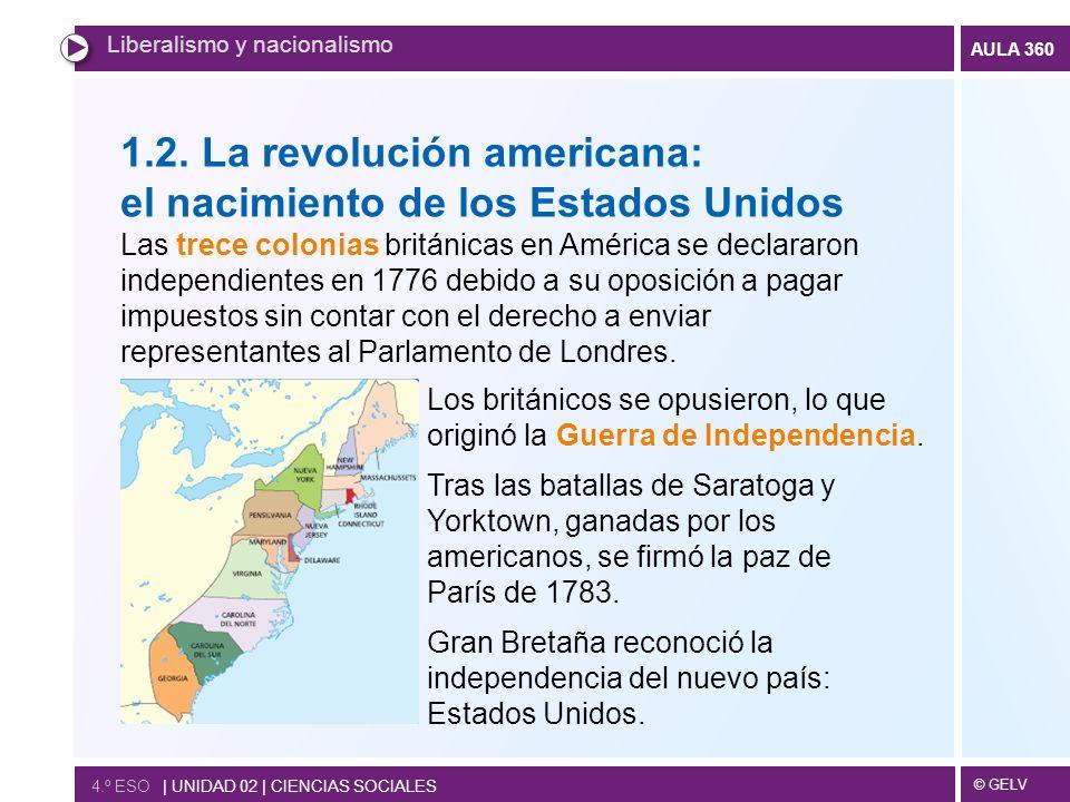 1.2. La revolución americana: el nacimiento de los Estados Unidos