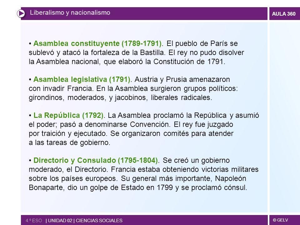 la Asamblea nacional, que elaboró la Constitución de 1791.