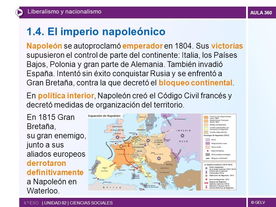 1.4. El imperio napoleónico