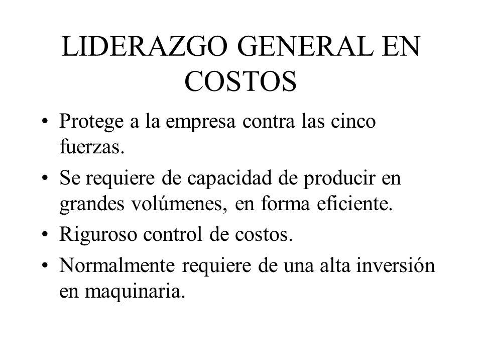 LIDERAZGO GENERAL EN COSTOS