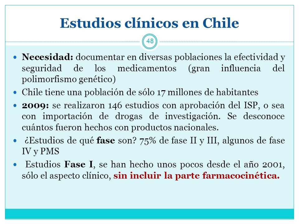 Estudios clínicos en Chile