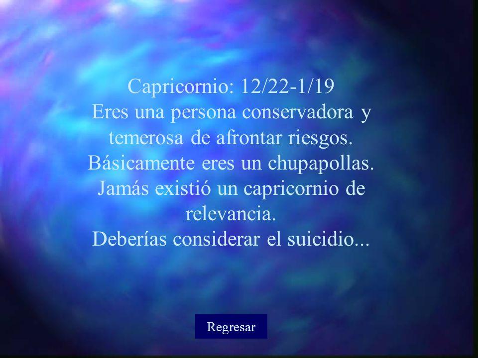 Deberías considerar el suicidio...