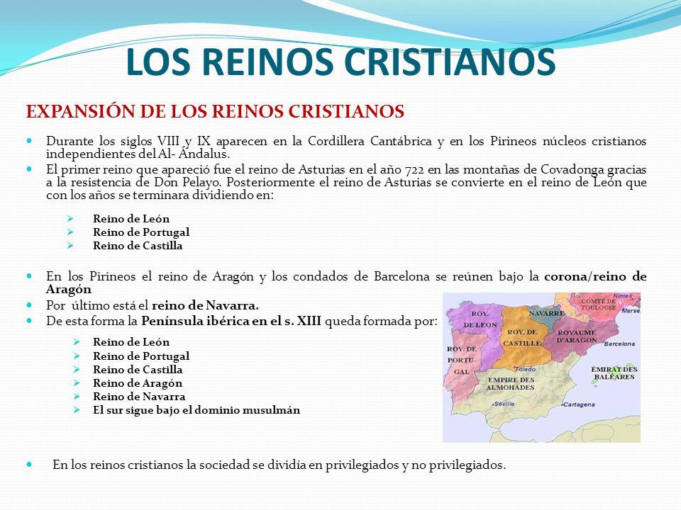 LOS REINOS CRISTIANOS EXPANSIÓN DE LOS REINOS CRISTIANOS