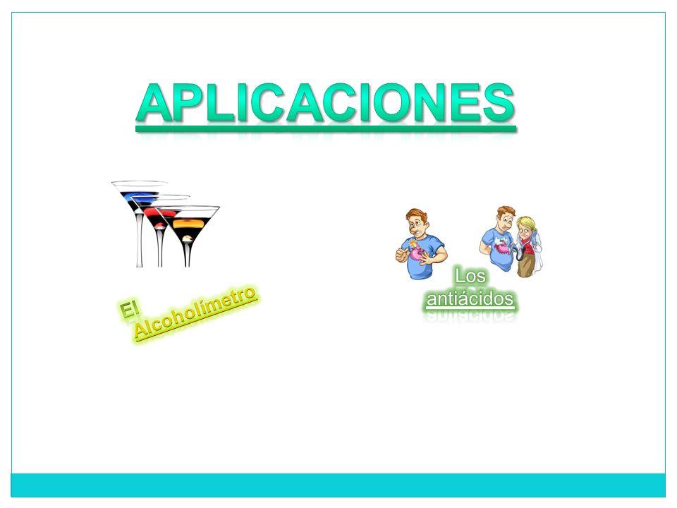 APLICACIONES Los antiácidos Alcoholímetro El