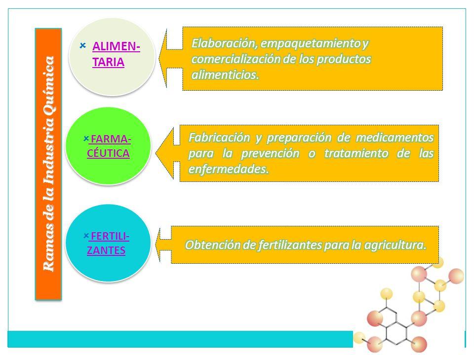 Ramas de la Industria Química