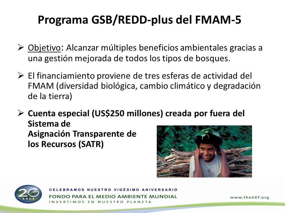 Programa GSB/REDD-plus del FMAM-5