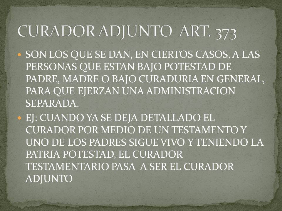 CURADOR ADJUNTO ART. 373