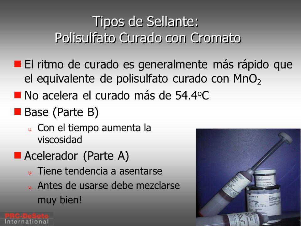 Tipos de Sellante: Polisulfato Curado con Cromato