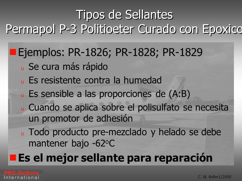 Tipos de Sellantes Permapol P-3 Politioeter Curado con Epoxico