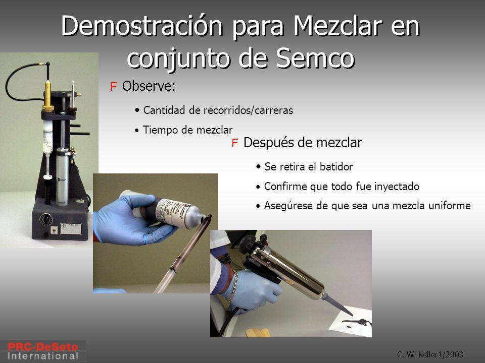 Demostración para Mezclar en conjunto de Semco