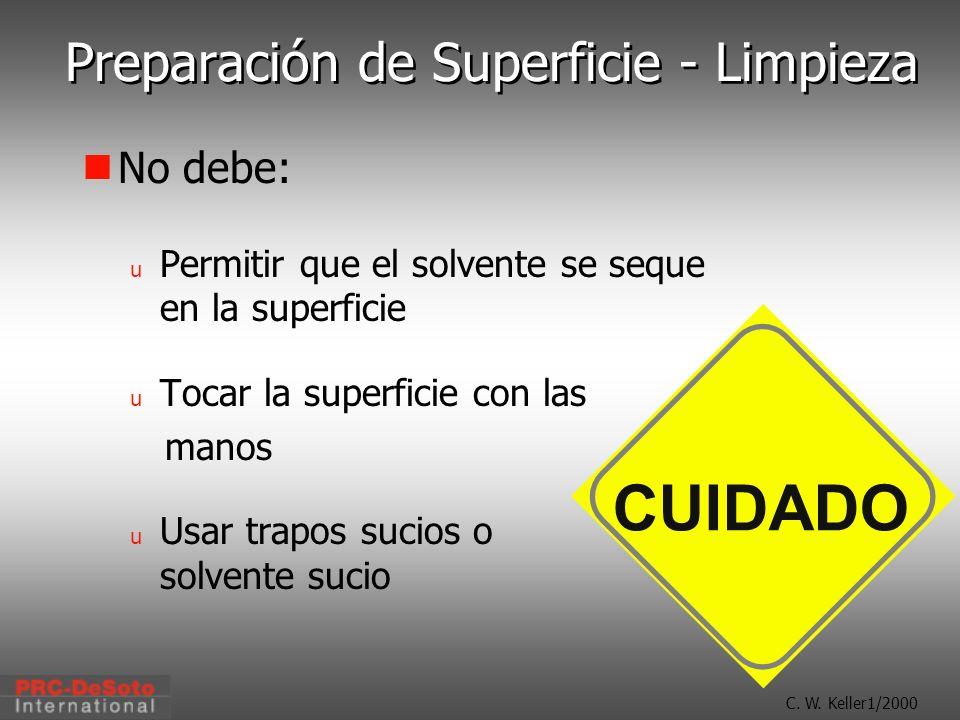 Preparación de Superficie - Limpieza