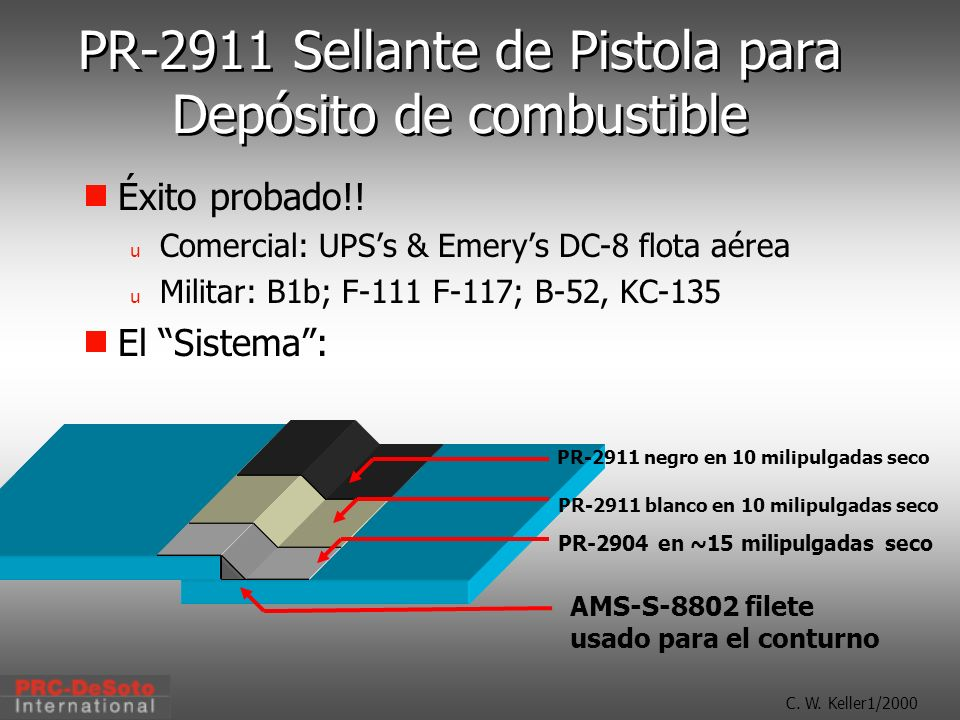 PR-2911 Sellante de Pistola para Depósito de combustible