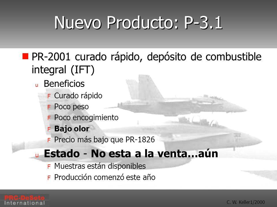 Nuevo Producto: P-3.1 PR-2001 curado rápido, depósito de combustible integral (IFT) Beneficios. Curado rápido.