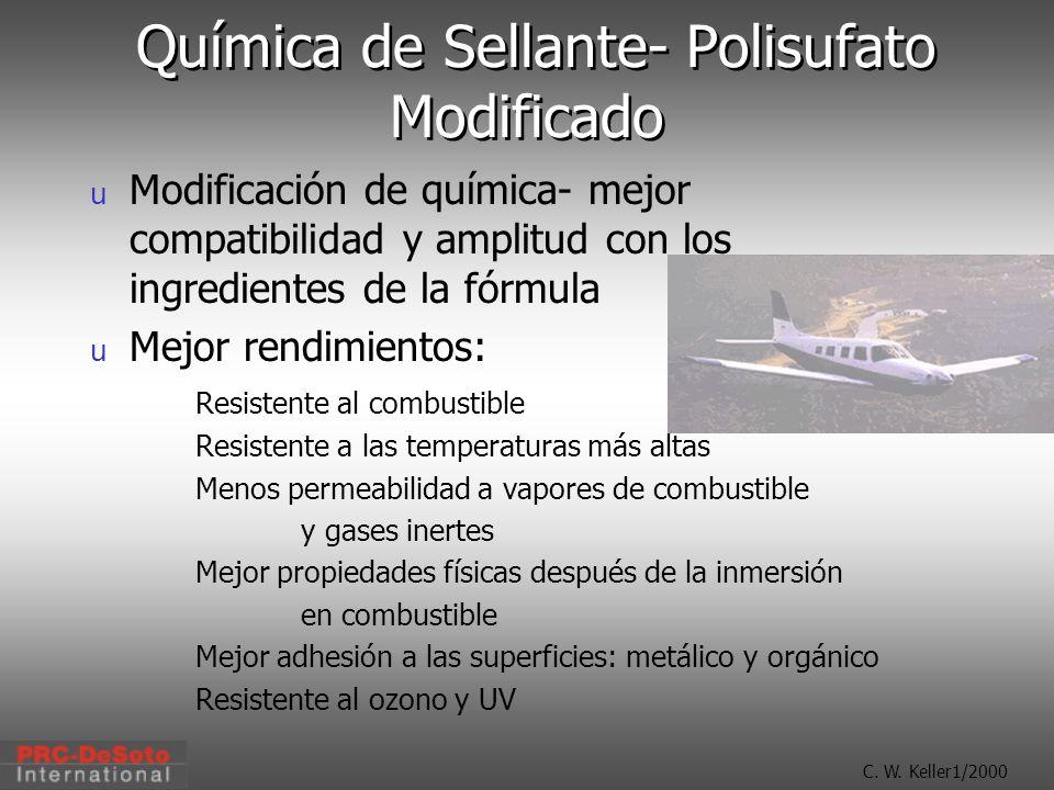 Química de Sellante- Polisufato Modificado