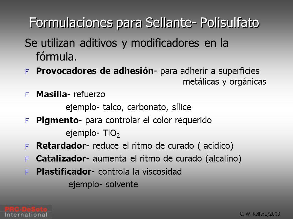 Formulaciones para Sellante- Polisulfato