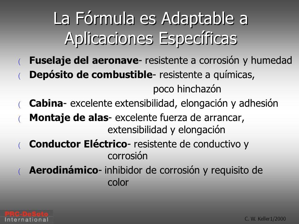 La Fórmula es Adaptable a Aplicaciones Específicas