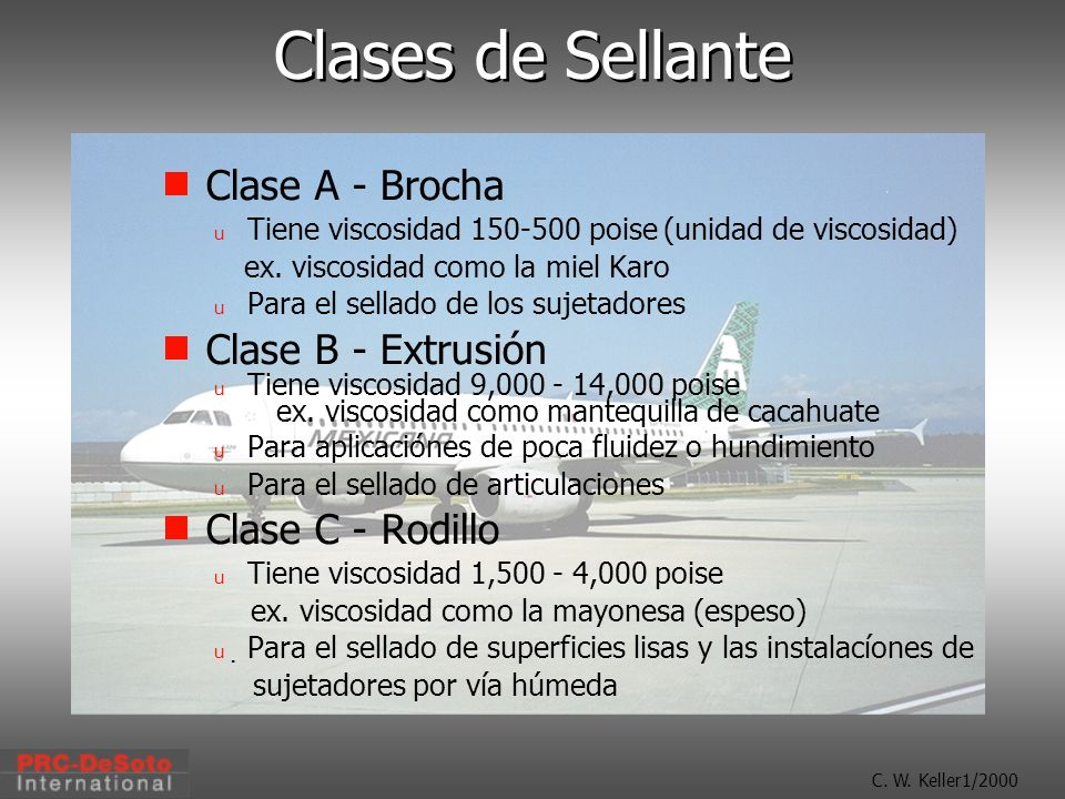 Clases de Sellante Clase A - Brocha Clase B - Extrusión