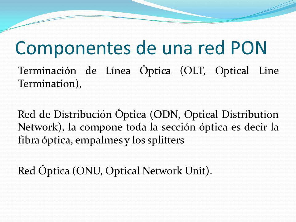 Componentes de una red PON