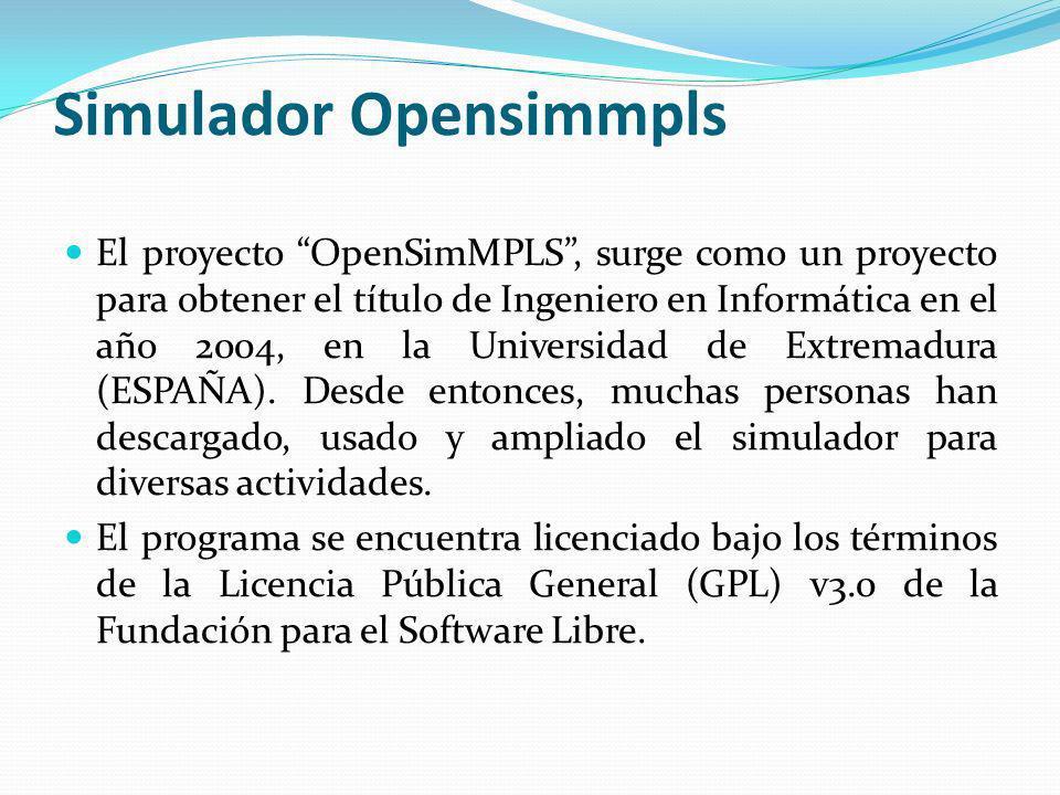 Simulador Opensimmpls