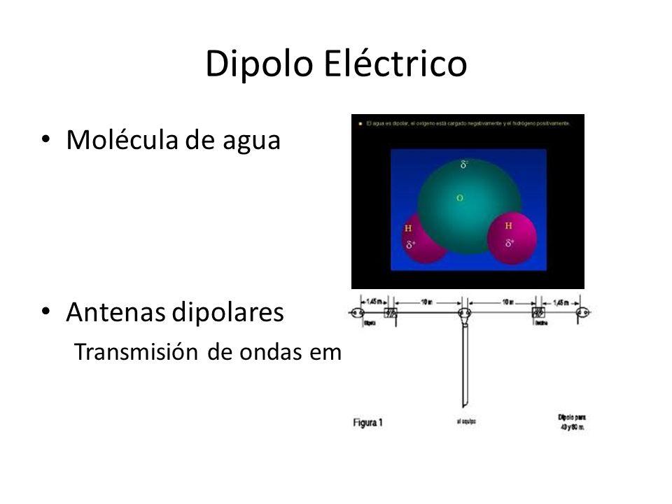 Dipolo Eléctrico Molécula de agua Antenas dipolares