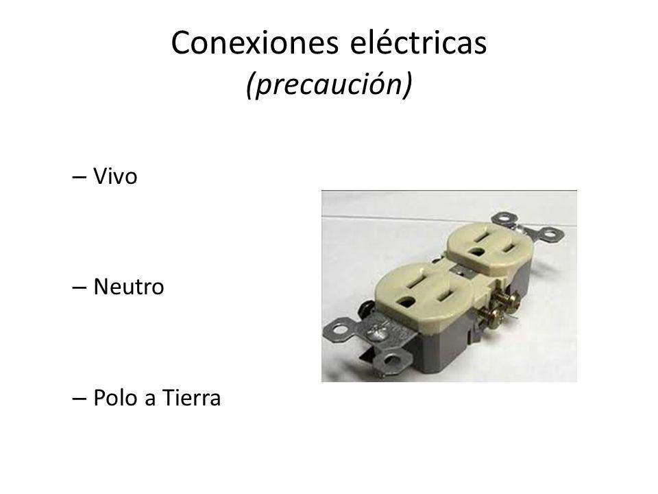 Conexiones eléctricas (precaución)